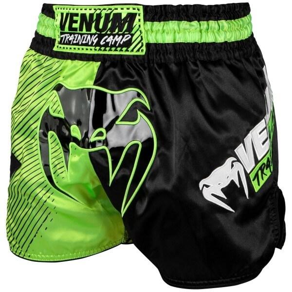 Venum Training Camp Muay Thai Shorts - Black/Neo S