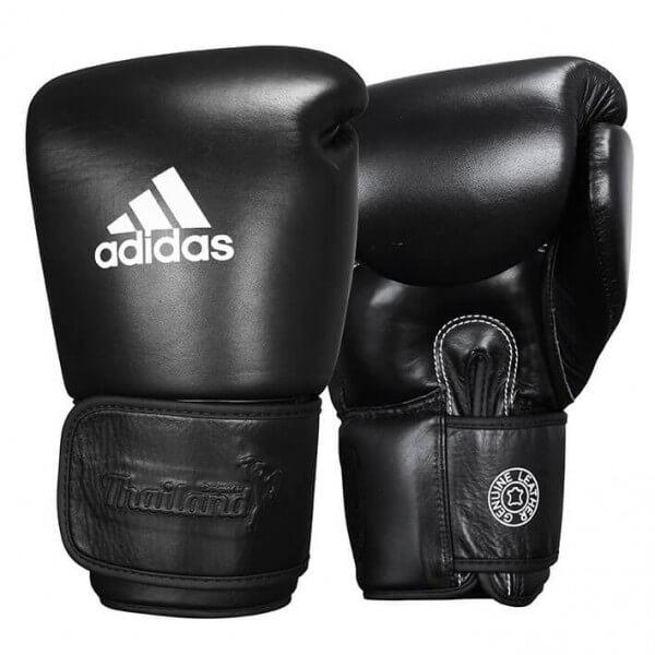 ADIDAS Muay Thai Boxhandschuhe Leder 300 black
