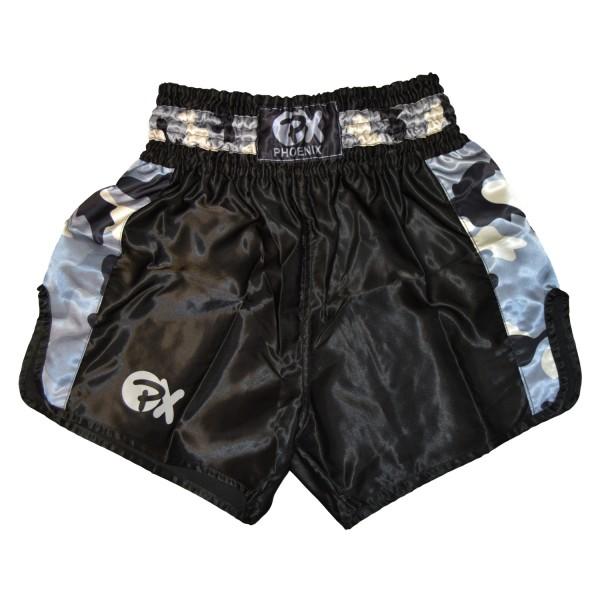 "PHOENIX Thai Shorts, ""Contender"" schw-camo XXS"