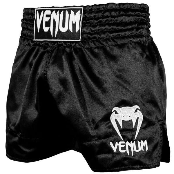 VENUM Classic Muay Thai Shorts - Black/White