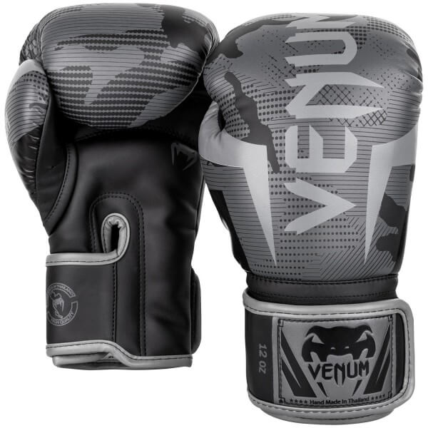 Venum Elite Gloves - Black/ Dark Camo 10oz
