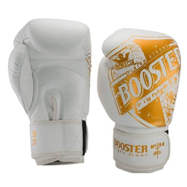BOOSTER Boxhandschuhe Leder Pro Shield weiß