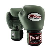 TWINS Boxhandschuhe Muay Thai Leder BGVL-3 MILITAIRY 10 Oz
