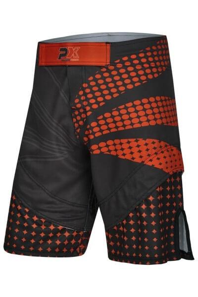 PX MMA Shorts günstig schwarz-rot, Stretch