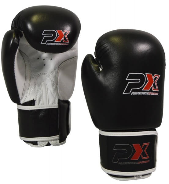 PHOENIX PX Boxhandschuhe schwarz-weiß Leder