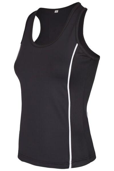 PX Ladies Stretch Boxshirt, schwarz XS