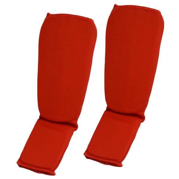 Schienbein- und SpannschonerStoff rot GrS