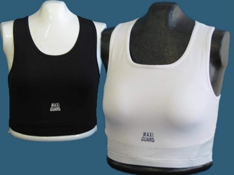Top f/ür Damen Brustschutz Maxiguard weiss