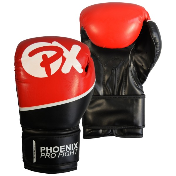PX PRO FIGHT Boxhandschuhe PU schw-rot 8oz