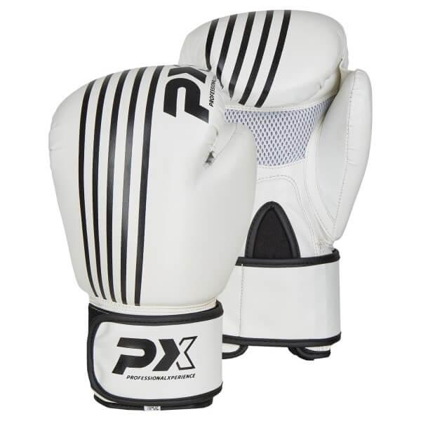 PX Boxhandschuhe SPARRING, PU weiß-schwarz 8oz