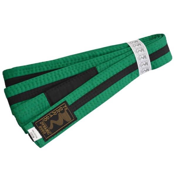 Kinder BJJ Gürtel grün-schwarz m. Bar 220 cm