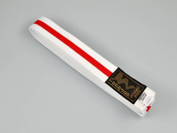 Budogürtel weiß-rot 200 cm