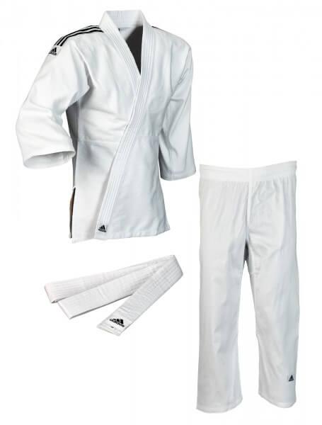 "ADIDAS Judo ""Club"" weiß, schwarze Streifen 100"