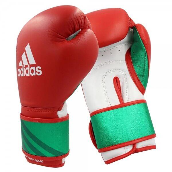 ADIDAS Leder Boxhandschuhe Speed Pro red/green
