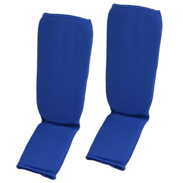 Schienbein- und Spannschoner Stoff blau GrS
