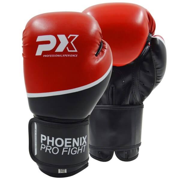PRO FIGHT PX Boxhandschuhe Kickboxen schw-rot