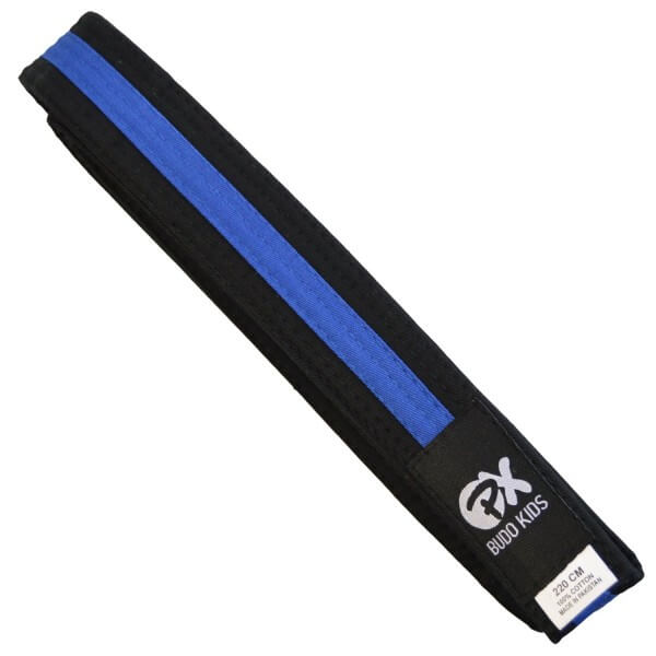 PX Budo Kids Softbelt, schwarz-blau, 200cm