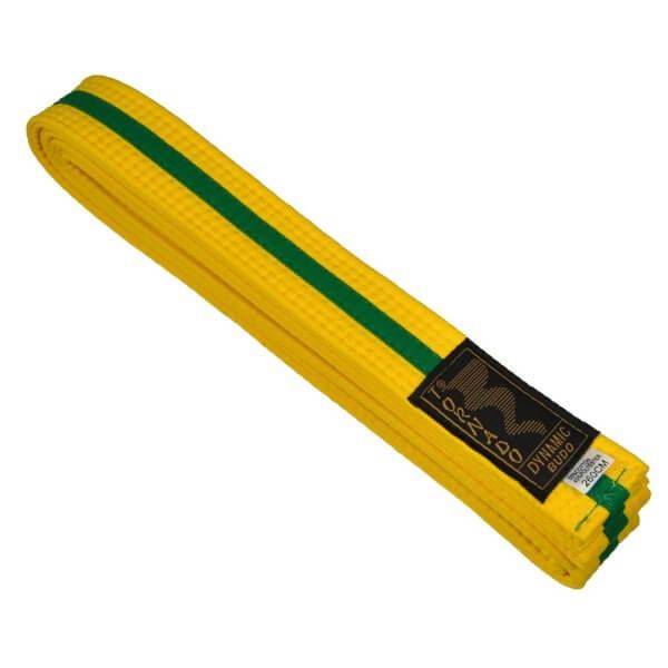 Budogürtel gelb-grün 220 cm