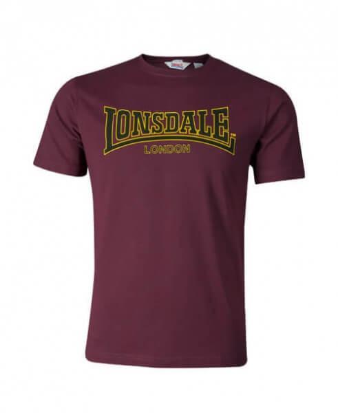 LONSDALE T-Shirt Herren Classic Oxblood