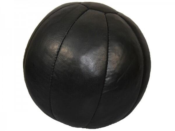 Medizinball Echtleder 5Kg schwarz, D=30cm