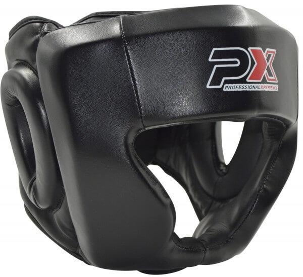PX Kopfschutz Boxen Kampfsport Kunstleder schwarz