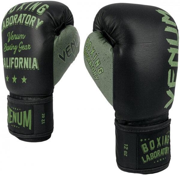 Venum Boxing Lab Gloves - Black/khaki 10oz