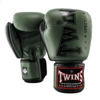 TWINS Boxhandschuhe BGVL 8 Military Grün 10 Oz