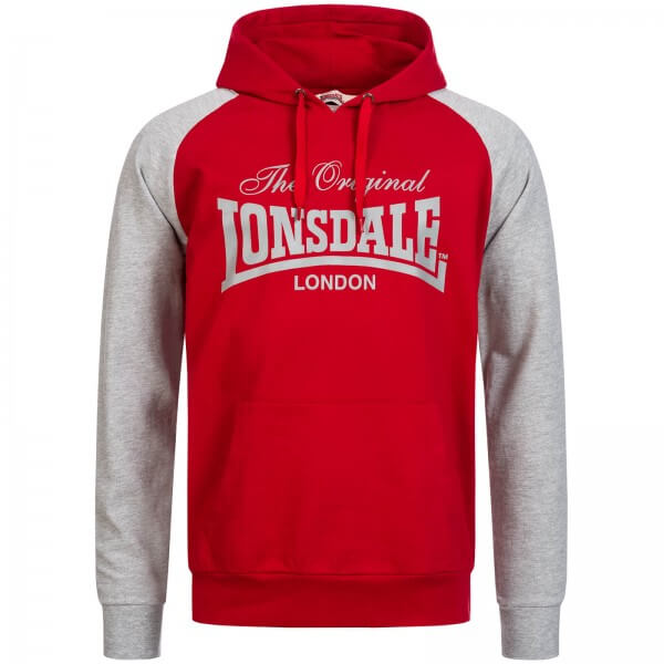 LONSDALE Herren-Kapuzenpullover Brundall Dark Red