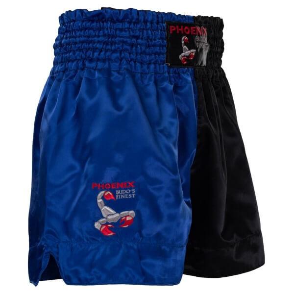 BUDO''s FINEST Thai Shorts Schw-blau Gr S