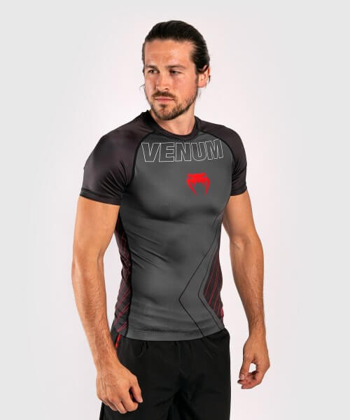 Venum Contender 5.0 Rashguard - Short Sleeves - schwarz/rot L