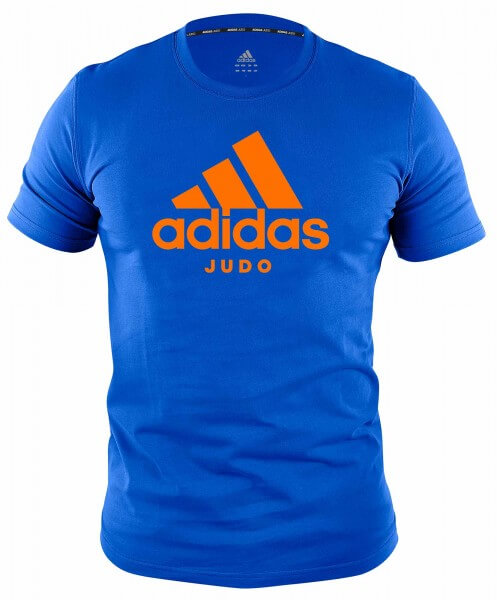 "ADIDAS Judo T-Shirt Community line ""Performance"" blue-orange"