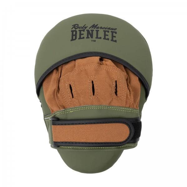 BENLEE Leder Boxpratzen MOORE Army-Green