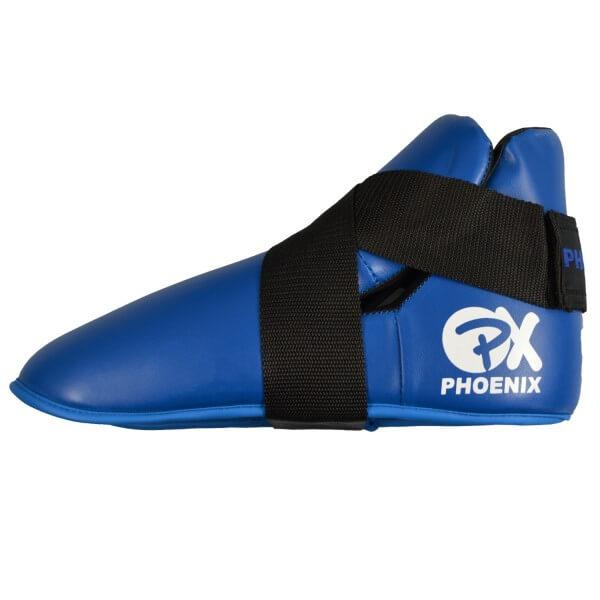 Fußschutz Kampfsport Safetys Kickboxen Kunstleder blau