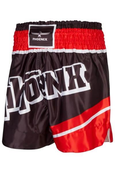 "PHOENIX Thai Shorts, ""FIGHTER"" schw-rot, XS"