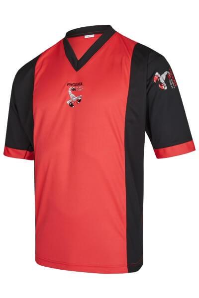 BF Kickbox-Shirt rot-schwarz Elastic Mesh Gr 140