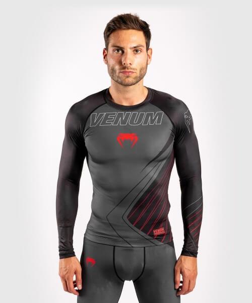 Venum Contender 5.0 Rashguard - Long Sleeves - schwarz/rot L