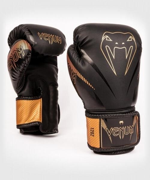 VENUM Impact Boxhandschuhe - Black/ Bronze