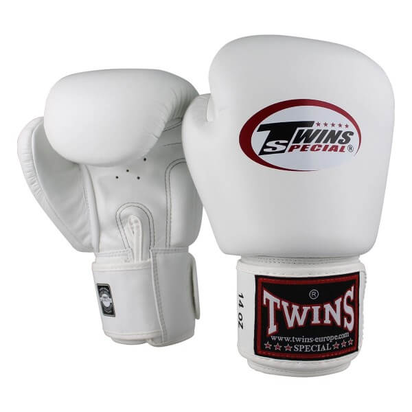 TWINS Boxhandschuhe Muay Thai Leder BGVL-3 White