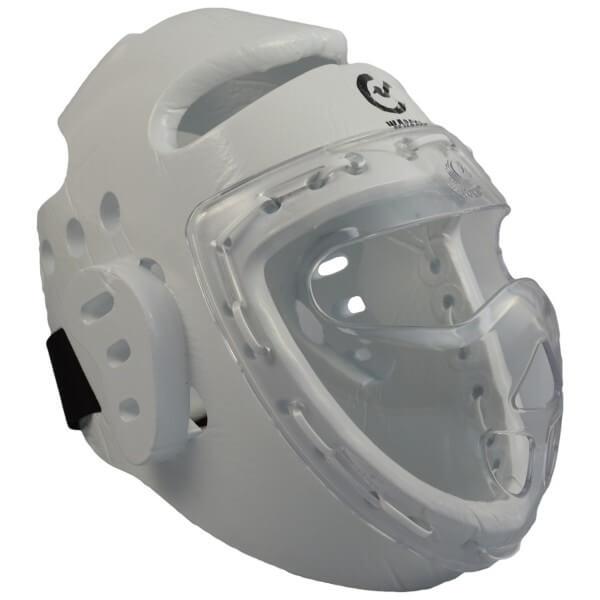 Kopfschützer weiß Schaumstoff, Maske, WTF XS