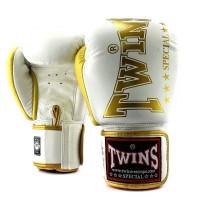 TWINS Boxhandschuhe BGVL 8 Weiß 10 Oz