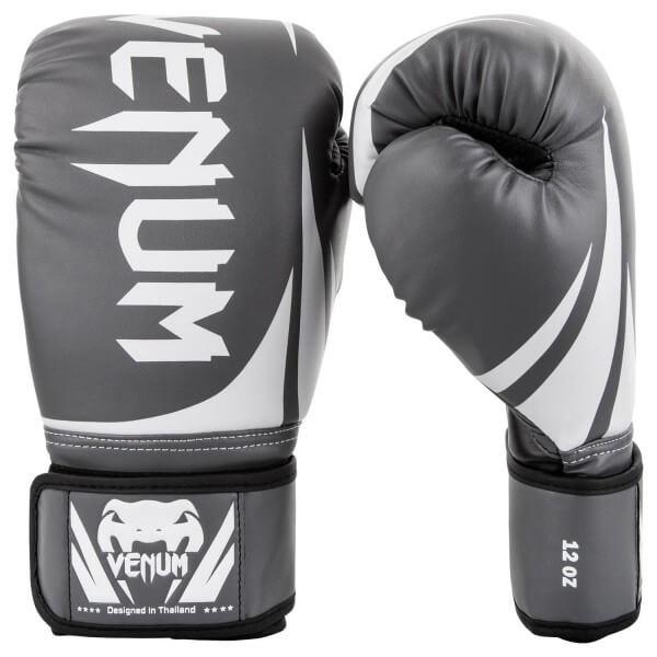 Venum Challenger 2.0 Gloves-Grey/White-Black 10oz