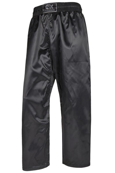 PHOENIX Kickboxhose lang ganz schwarz, 100