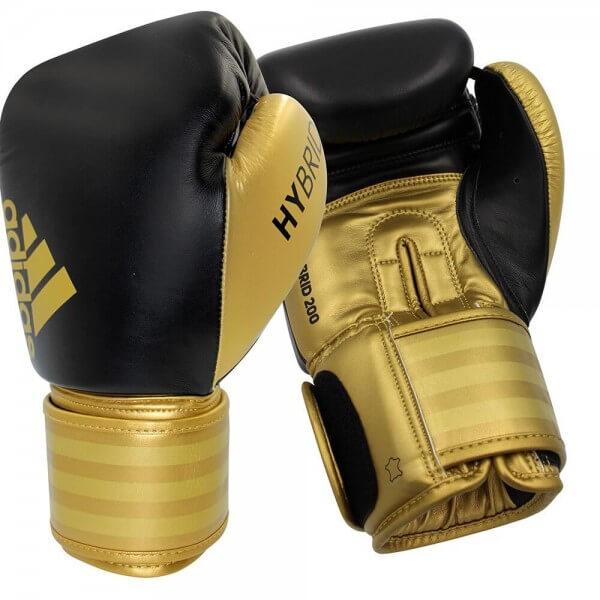 ADIDAS Boxhandschuhe Hybrid 200 Leder black/gold