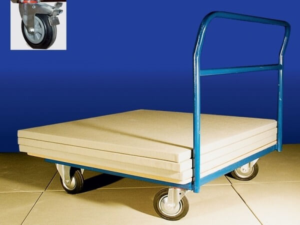 Mattenwagen mit Schiebebügel 100 x 100 cm
