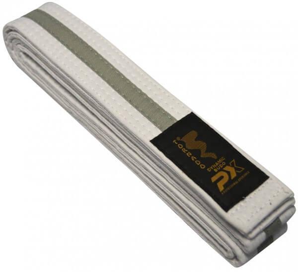 Budogürtel weiß-grau 200 cm