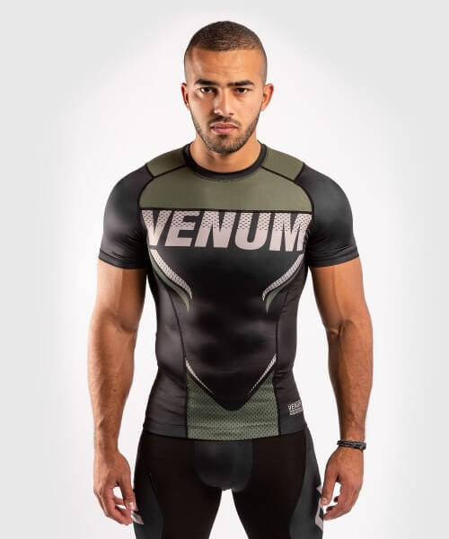 Venum ONE FC2 Rashguard Short Sleeves Black / Khaki S