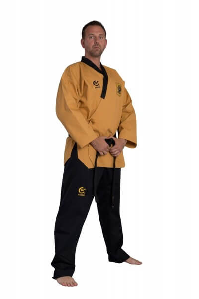 WACOKU WTF Taekwondoanzug POOMSAE Grandmaster, gelb/s/sr