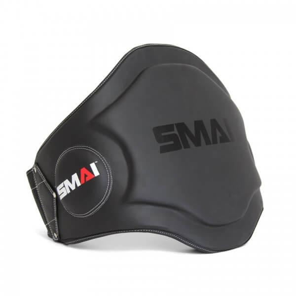 SMAI Thai Bauchschutz Echtleder schwarz