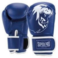 Super Pro Talent Kinder (Kick-)Boxhandschuhe blue/white 4oz Blau/Weiß
