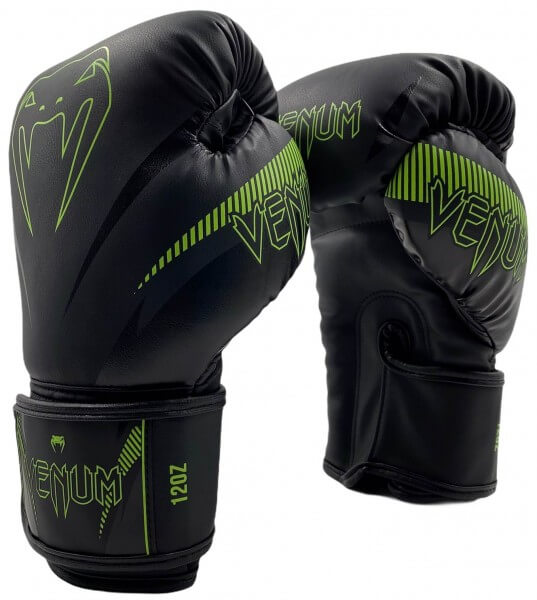 Venum Impact Gloves - Black/ Neo Yellow